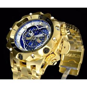 666937fc3b6 Relógio Cx10036 Invicta Venom Hybrid Dourado Azul Em Estoque