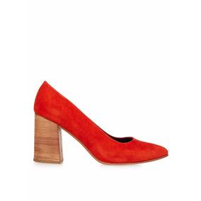 Zapatos Con Taco De Mujer Gamuza - Maggio Rossetto