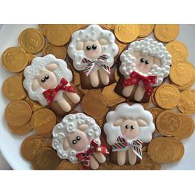 Galletas Decoradas Borregos De Suerte, Abundancia, Navidad