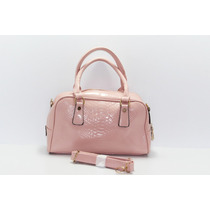Bolsa Color Rosa Tipo Piel Vibora B86