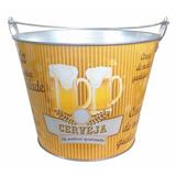 Balde Para Gelo E Cerveja 5 Litros Em Alumínio Com Alça