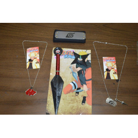 Accesorios Naruto: Kunai+shuriken+banda+collar+collar Doble