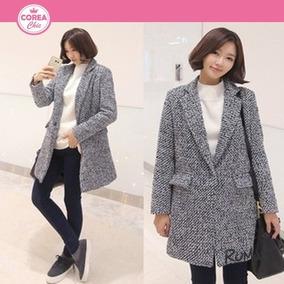 Abrigo De Lana De Un Botón/ Moda Coreana| Corea Chic