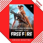 Free Fire Assinatura Semanal 60 Dimas P/ Dia - 7 Dias
