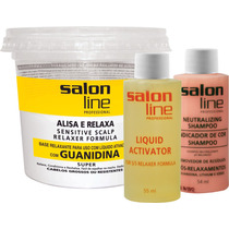 Guanidina Salon Line Tradicional Super Forte Alisa Relaxa