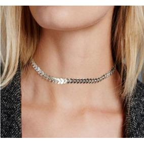 Cadena Flecha Dama Tipo Choker Collar Moda Vintage Bisutería