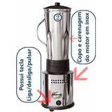 Liquidificador Industrial 2 Litros Alta Rotação 1cv. Inox Is