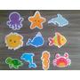 30 Apliques / Recortes: Fundo Do Mar (meninos)