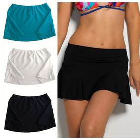 Falda Sport De Playa Para Traje De Baño Bikini Blanca Licra
