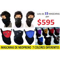 Lote De 15 Mascaras De Neopreno 7 Colores Diferentes
