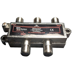 Splitter 4 Vias Tele System Conecta 1 Lnb A 4 Receptores Sal