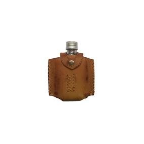 Cantil Porta Bebida Kit Couro Whisky Uisque Vodka Conhaque