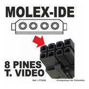 Zfte08 Cable Adaptador De Molex A 8 Pines Gpu Computoys