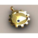 Pingente Formatura Engenharia Química Ouro 18k