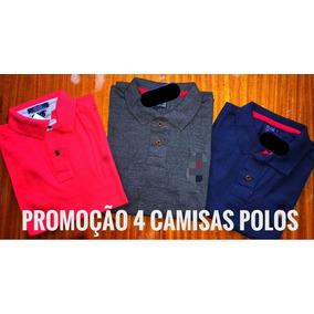 Kit 04 Camisa Masculina Polo Plus Size Tamanho G1 G2 G3 0ba6006f1a5