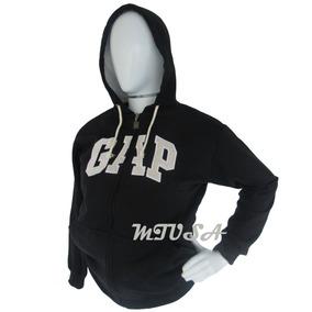 Kit 3 Blusas Moleton Feminina Gap Canguru Com Ziper Capuz