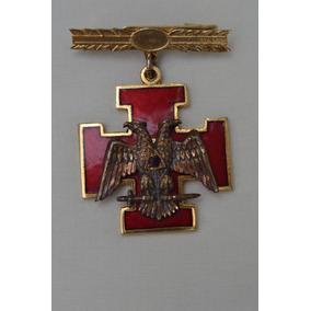 Medalla Masónica Con Rubí, Grado 33.