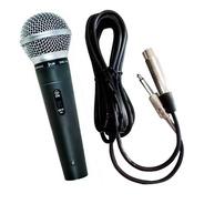 Microfone Dinâmico Pro Com Fio De Mão Dylan Smd100 Com Cabo