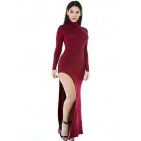 Vestidos de fiesta color vino 2018