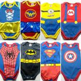 Body Baby Herois Infantil Geek Batman, Super Man, Hulk