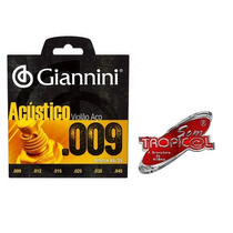 Encordoamento Giannini S.acústico Violão Aço 09 Caixa Com 12