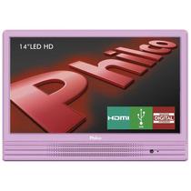 Tv 14 Led Hd Ph14e10dr Usb Hdmi Rosa Philco