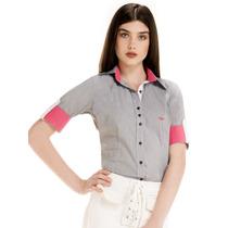 Camisa Manga Curta 3/4 Listrada Principessa Rute