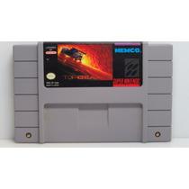 153 - Top Gear Ii 2 Original Super Nintendo Snes Americana