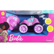 Carrinho De Controle Rosa Barbie Glamour Flip Candide 1851
