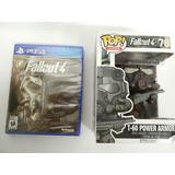 Físico Sellado Fallout 4 Ps4 + Figura Funko Power Armor