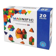 Magnific Bloques Magneticos Diversion 20 Pzs Playking