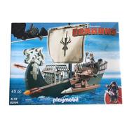 Playmobil 9244 Navio De Caça De Drago - Dragons - Geobra
