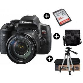 Camara Canon T6i 18-55 + Bolso + Tripode Alum 1,54 + Sd 32gb