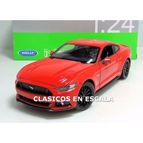 Ford Mustang Gt 2015 5.0 V8 - Muscle Car Rojo - Welly 1/24