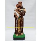 Escultura Santo Antonio Imagem 40cm Linda Estatua Série Ouro