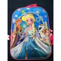 Mochila Escolar Infanti 3d Frozen Princesas Sofia Barbie