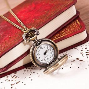 Lindo Relógio De Bolso Vintage De Bronze