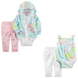 Lote Carters Conjunto Body Calça Infantil Bebe Menina 5 Pçs