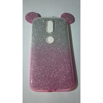 Tpu Transparente Orejas Mickey Mouse Moto G4 Color Rosa