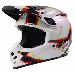 Capacete Bell Moto 9 Pace Black White