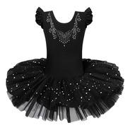 Vestido Bailarina Profissional Meninas Balé Cisne Negro Luxo