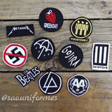 Parches Rock Bandas Bordados Set Rock