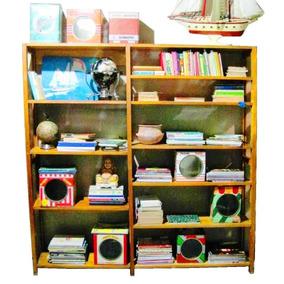 Biblioteca Repisa Estantería Regulable Antigua Maciza