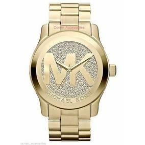 Relógio F480 Michael Kors Mk5706 Grande Dourado Promoção -