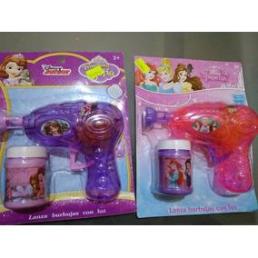 Burbuja Pistola Con Luz Disney Princesas Y Sofia 15pz
