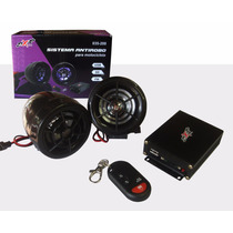 Alarma Sistema Antirobo Para Motocicleta + Bocinas Usd/sd Fm