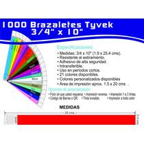 1000 Brazalete Tyvek Xv Años Bares Conciertos Fiestas