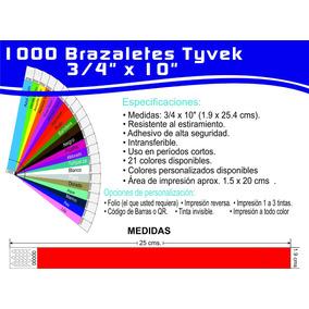 1000 Brazalete Tyvek Xv´s, Bares Conciertos Fiestas Impresos