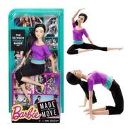 Boneca Barbie Articulada Japonesa Purple Top Made To Move
