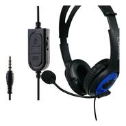 Fone De Ouvido Headphone Microfone Ps4 X-one Pc Celular P3